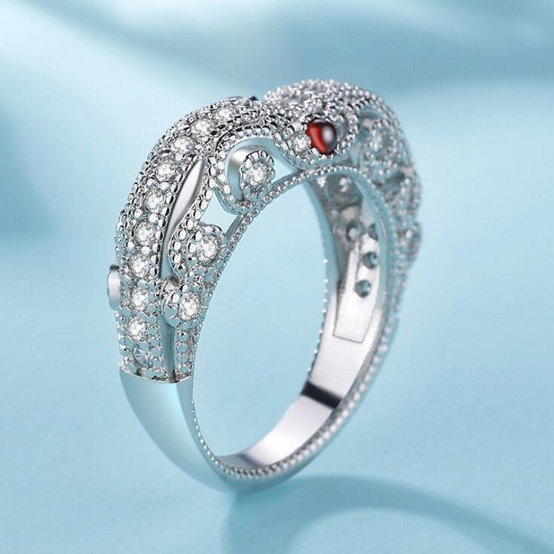 Ring Gift Jewelry Wedding-Court-Band Classical 925-Sterling-Silver Cubic-Zirconia Real