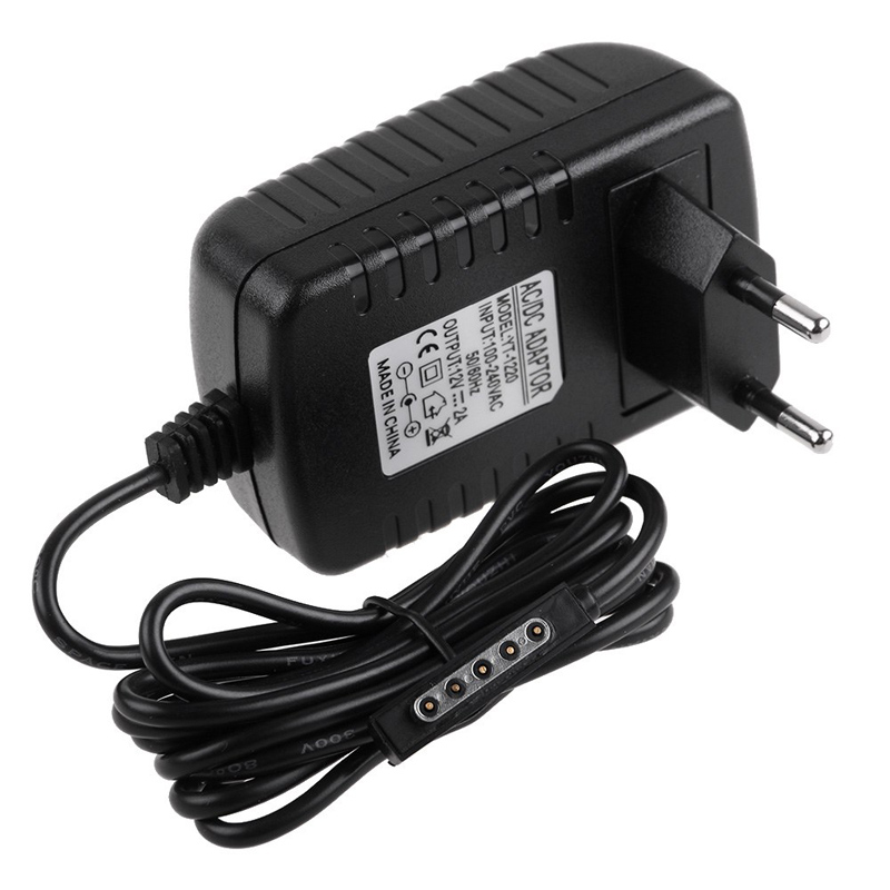 EU Plug 12 V 2A AC Adapter Tablet Pengisi Baterai Untuk Microsoft Surface RT Pro 2 Windows 8 Tablet PC 64GB 128GB 256GB 512GB