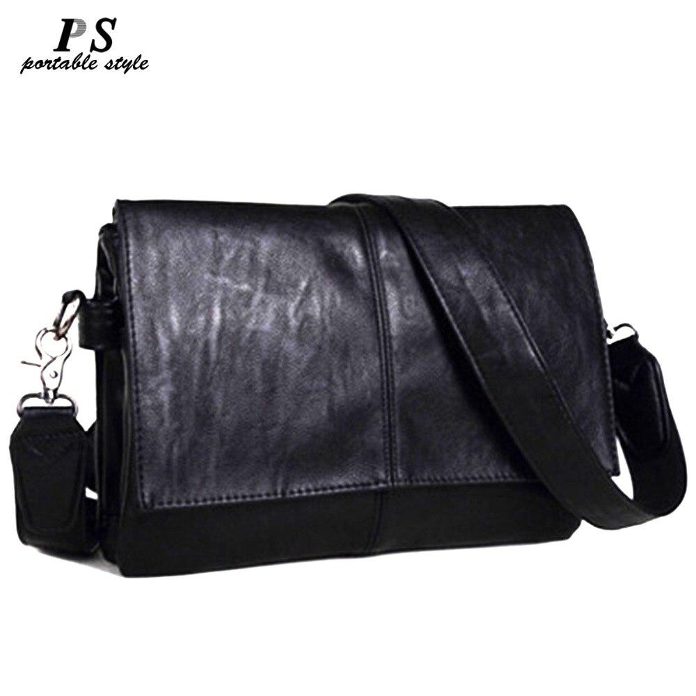 2019 New Vintage Men Briefcase Genuine Leather Men Messenger Bags Fashion Male Tote Bags Leather Business Men Bag Shoulder Bags