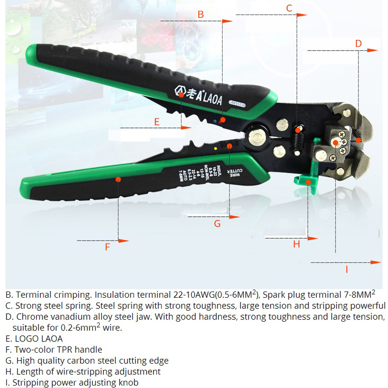 Automatic Professional Wire Stripper Multi function Alectrical Wire Stripping Pressure Adjustable High Quality Hand Tool Pliers in Pliers from Tools
