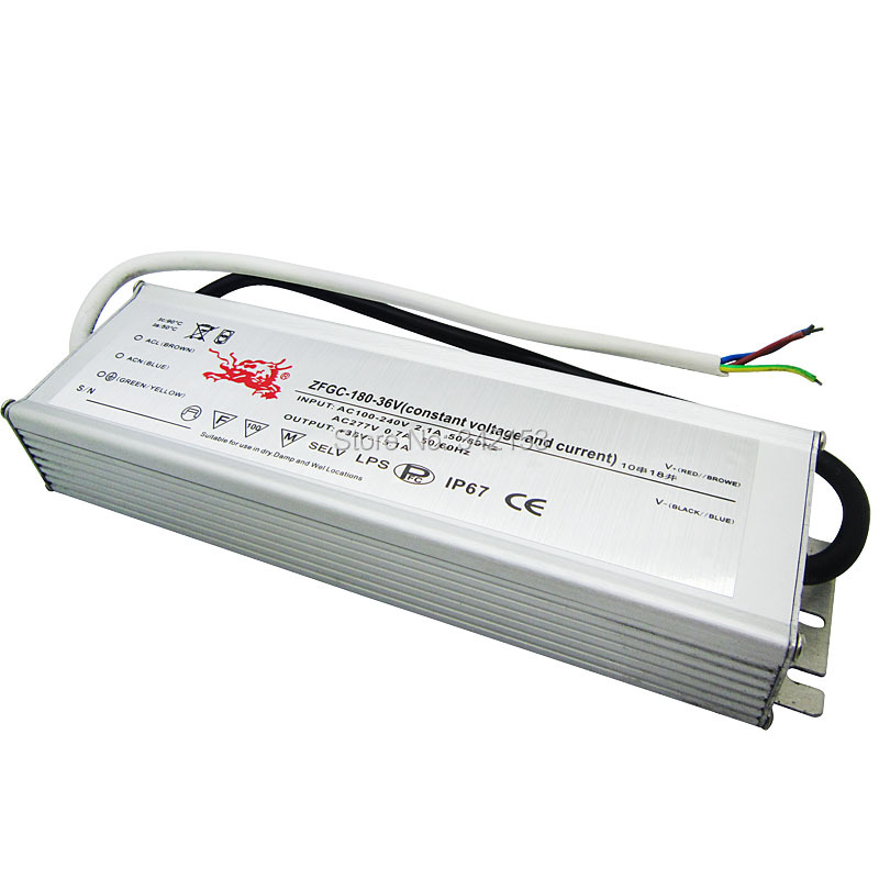 ФОТО IP67 Waterproof Lighting Transformers 26-36V 5.1A 180W High Power Constant Current Led Driver For High Power Led Lamp Light