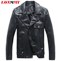 LONMMY 2016Autumn Motorcycle jacket men PU Suede leather jacket mens Slim fit Fashion Oblique zipper Leather jackets coats M-5XL
