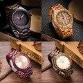 Top Quality Wood Watch Men Wristwatches Wooden Clock Men's Fashion Brand Designer Walnut Black Sandal Wood Watches ChristmasGift