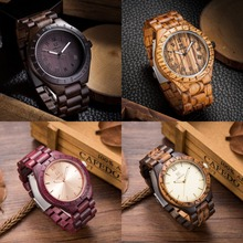 Top Quality Wood Watch Men Wristwatches Wooden Clock Men's Fashion Brand Designer Walnut Black Sandal Wood Watches ChristmasGift