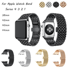 Stainless Steel watch strap for apple band 44mm&for 4 40mm bracelet iwatch 3 2 1 42/38mm accessories