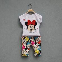 2018 neue Herbst Winter Mädchen Set Minnie Cartoon Anzug Kinder Kurzarm Set Baby Set koreanische Baumwolle Freizeit Prinzessin suit1-6y
