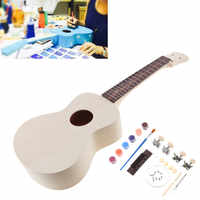 23 Inch Ukulele DIY Kit Set Rosewood Fingerboard Hawaiian Guitar Beginners Musical Instrument Parts for Handwork Painting