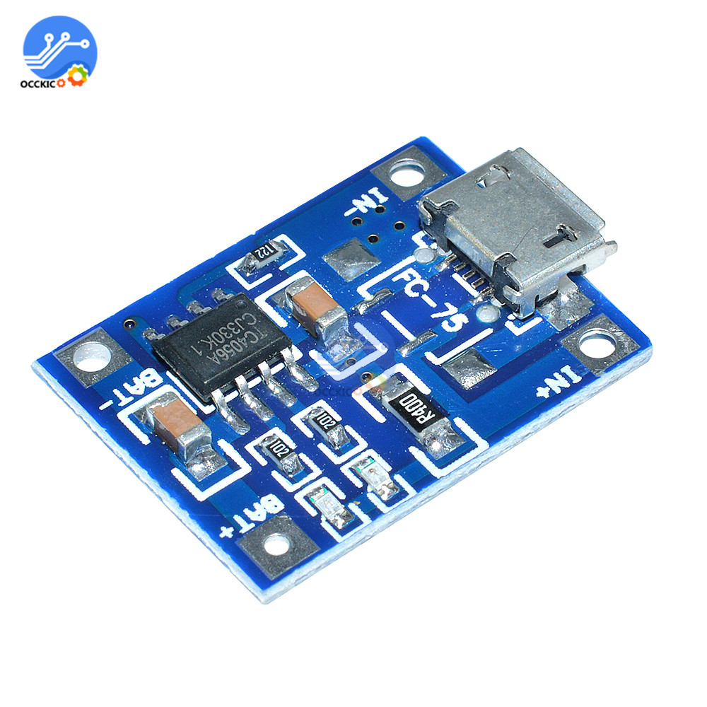 5PCS TP4056 5V 1A Micro USB Interface Lithium Battery Charging Board Charger Module Protection Function For Arduino Diy Kit