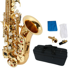 font b Musical b font Instruments Stylish Golden Carve Patterns Bb Soprano Saxophone Brass with