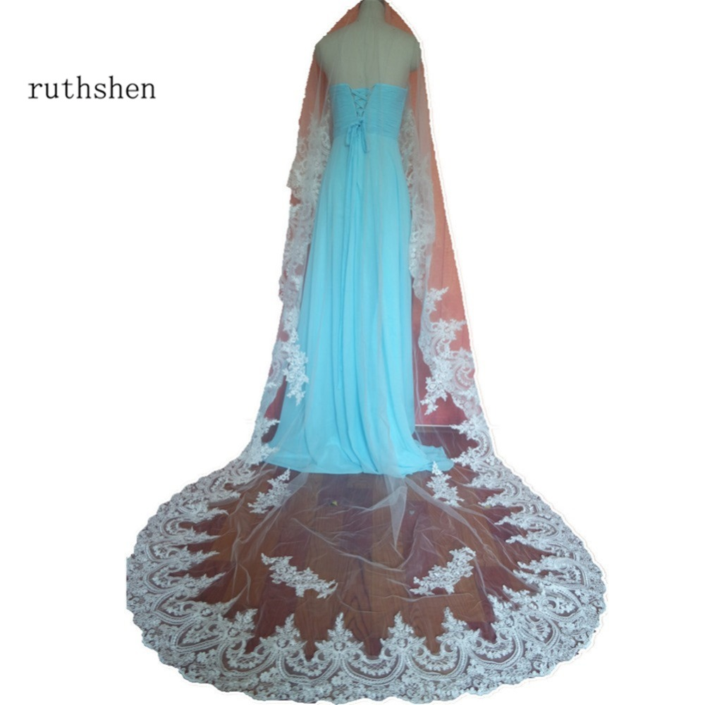 Styles Of Wedding Veils: Ruthshen In Stock Real Photo Vintage Style Lace Chapel