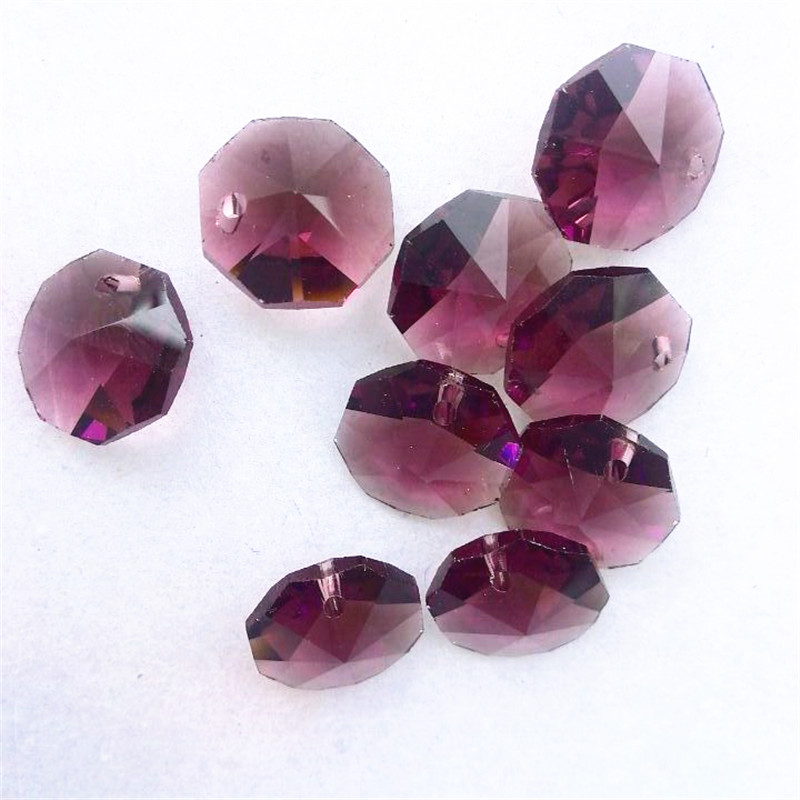 Crystal aaa 14mm 500pcs amethyst chandelier crystal accessories crystal aaa 14mm 500pcs amethyst chandelier crystal accessories crystal octagon beads in 1 hole homepart in chandelier crystal from lights lighting on mozeypictures Gallery