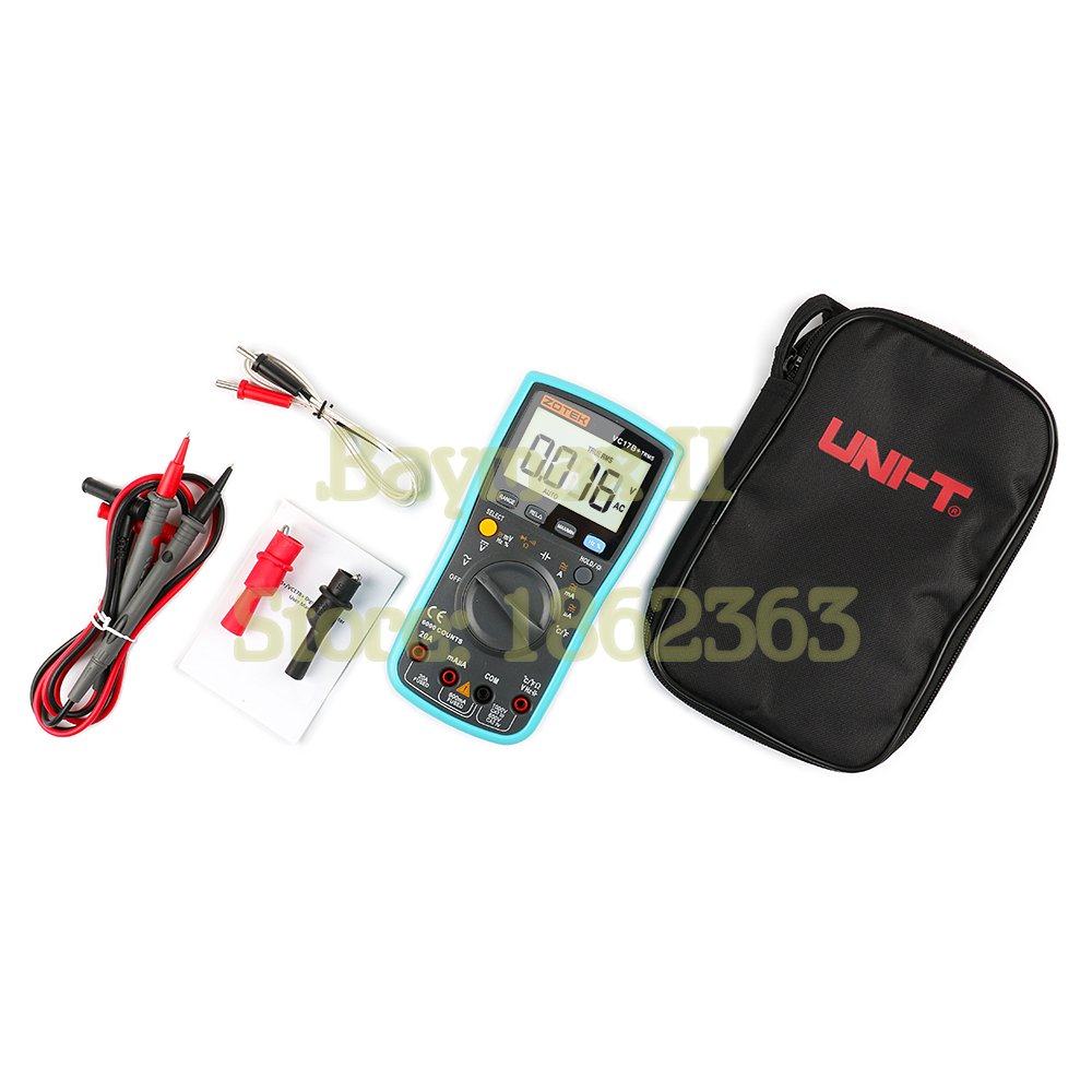 ZOTEK VC17B+ 6000 Counts True RMS Digital Multimeter AC/DC Voltage Current Ohm Tester with Temperature Measurement and Carry Bag handheld counts with temperature measurement lcd digital multimeter tester xl830l without battery new ls d tool
