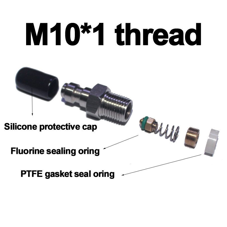 Details about Airgun Hunting PCP Fill Nipple Stainless Steel 8mm Air Tank  One Way Foster M10*1