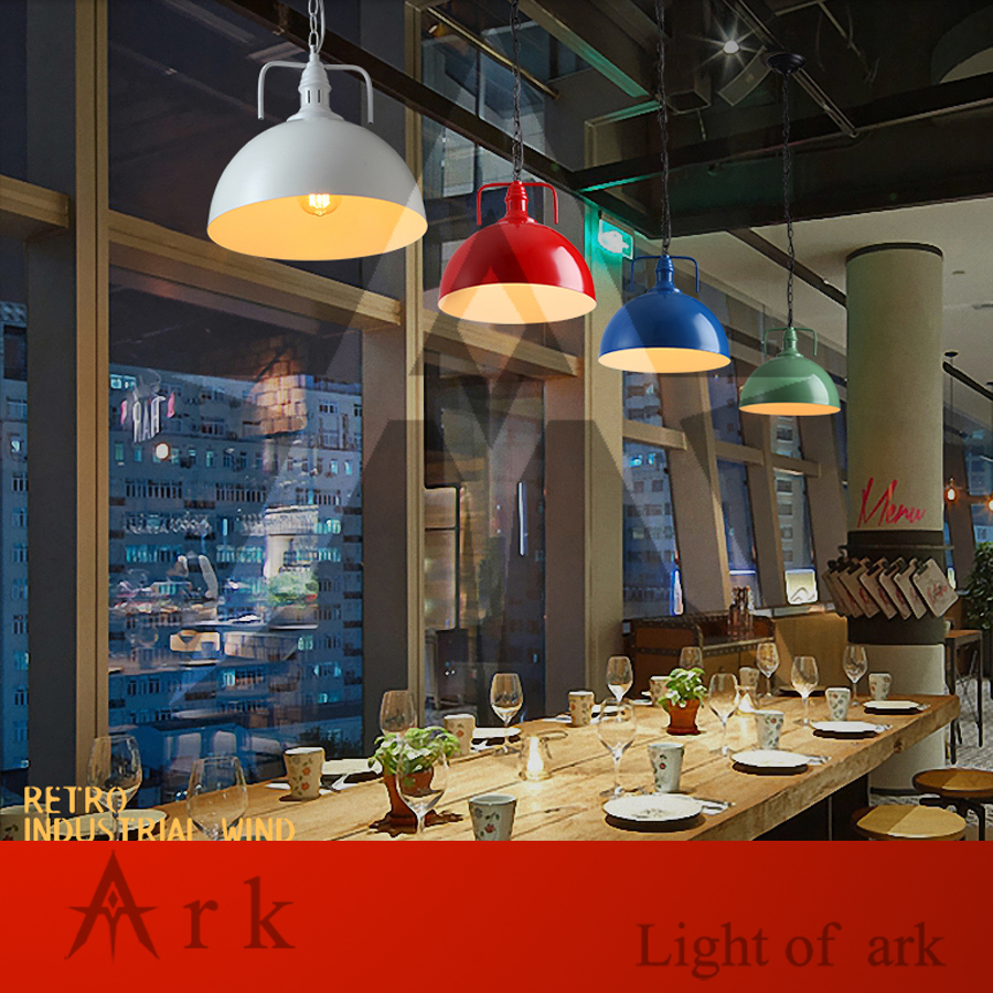 ARK LIGHT Loft Vintage dia 40cm colorful iron Personalized Bar Lighting Industrial Vintage pendant lamp for coffee house