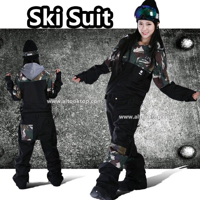 Fashion overalls brand professional men women ski suit girl snowboard board clothes female snow pants waterproof winter jumpsuit