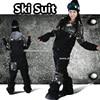 HOT Men Snowboard Jacket Pants Denim Jeans Overall Windproof Waterproof Ski Suit Set Outdoor Hiking Coat
