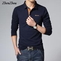 ZhenZhou hommes de Casual Camisa Polo Masculina Homme Uomo Polos De Marca Hombre Solide Polo Chemise