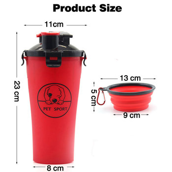 Dog Feeder 2 in 1 Water and Food Outdoor Dog Water Bottle Pet Bowls Travel Food Supplies Container Dish Cup for Cats and Dogs 1