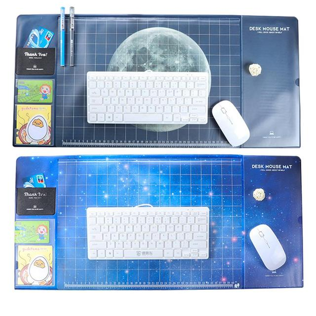 Star And Moon Waterproof Writing Pad PVC Computer Mouse Pad Office Learning Gaming Desk Cushion Large Cushion Soft Silica Gel