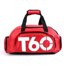 купить Men Gym Bag Backpacks Women Fitness Bags Travel Handbag One Shoulder Outdoor Sports Bags Yoga Shoes Sport Bag Training Rucksack дешево