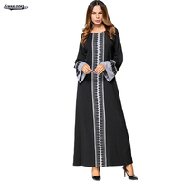 2017 Autumn New Arrival Fashion Middle East Clothing Long Sleeve Knitting Casual Maxi O Neck Long