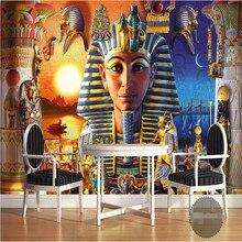 Обои 3d росписи декора картина фон Современной Египетской Культуры Древней Цивилизации искусства Ресторан настенная живопись фреска панели