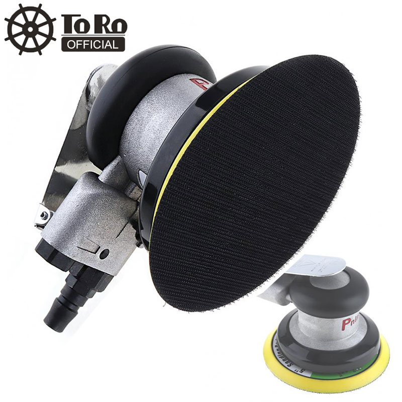 5 Inch Impulse Non vacuum Matte Surface Circular Pneumatic Sandpaper Random Orbital Air Sander Polished Grinding