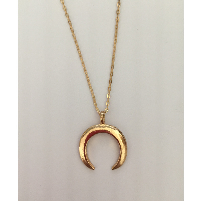 New fashion jewelry Crescent horns moon pendant necklace gift for women girl 2