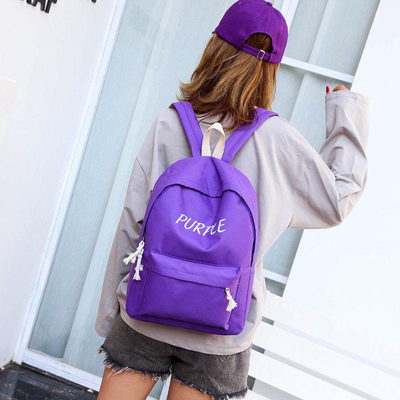 Boys Girls Retro Backpack Rucksack School College Travel Work Bag