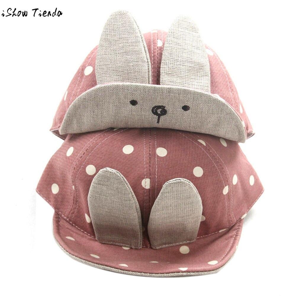 Baby Cap Beanie Long Rabbit Ears Children Dots Hats Newborn Photography Props Gorro Infantil