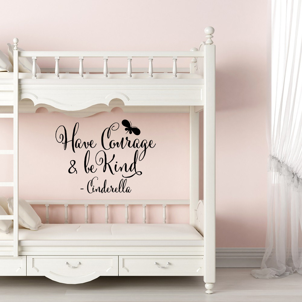 Girls Room Wall Decal Cinderella Quote Have Courage And Be Kind Wall Stickers For Living room Bedroom Home Decoration-in Wall Stickers from Home u0026 Garden on ... & Girls Room Wall Decal Cinderella Quote Have Courage And Be Kind Wall Stickers For Living room Bedroom Home Decoration-in Wall Stickers from Home u0026 ...