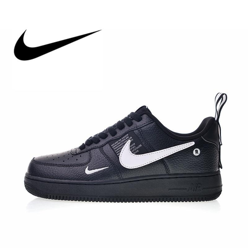 Original Et Authentique Nike Air Force 1 07 LV8 Pack Utilitaire Hommes de chaussures pour skateboard Sport baskets d'extérieur 2018 Nouveau AJ7747-001