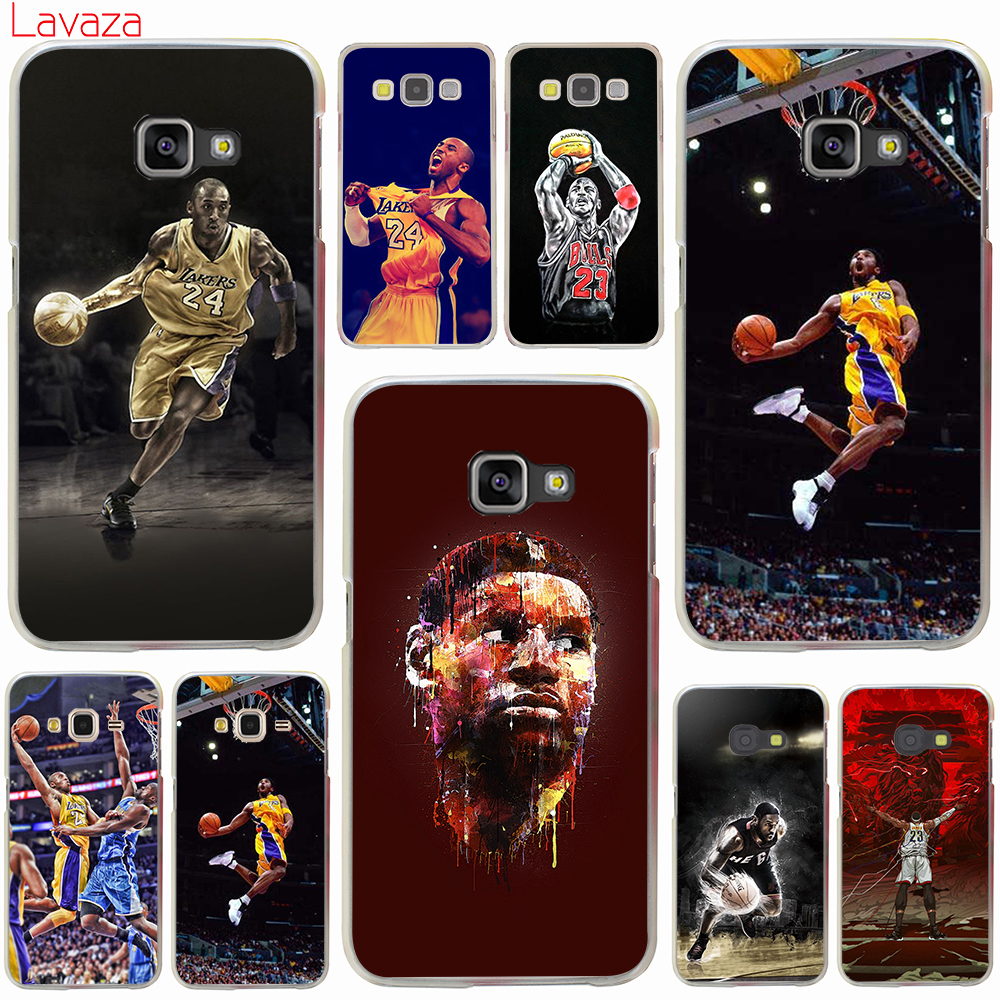 the latest 92225 02ce3 Lavaza LeBron James Kobe Bryant Hard Case for Samsung Galaxy A3 A5 2016  2017 Grand Prime A6 A8 Plus A9 2018 Note 8 9 Cover