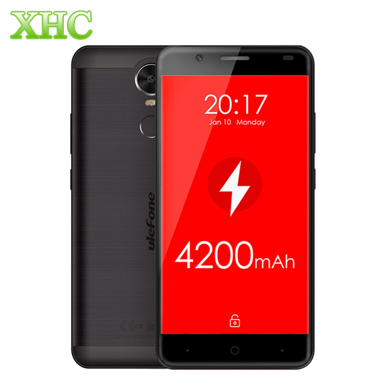 Цена за Ulefone тигр 2 ГБ + 16 ГБ lte 4 г металла mt6737 quad core 4200 мАч отпечатков пальцев 5.5 дюймов hd экран android 6.0 1.3 ГГц 13mp смартфона