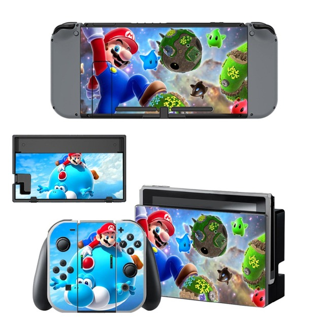 Nintend Switch Vinyl Skins Sticker For Nintendo Switch Console and Controller Skin Set - For Super Mario 4