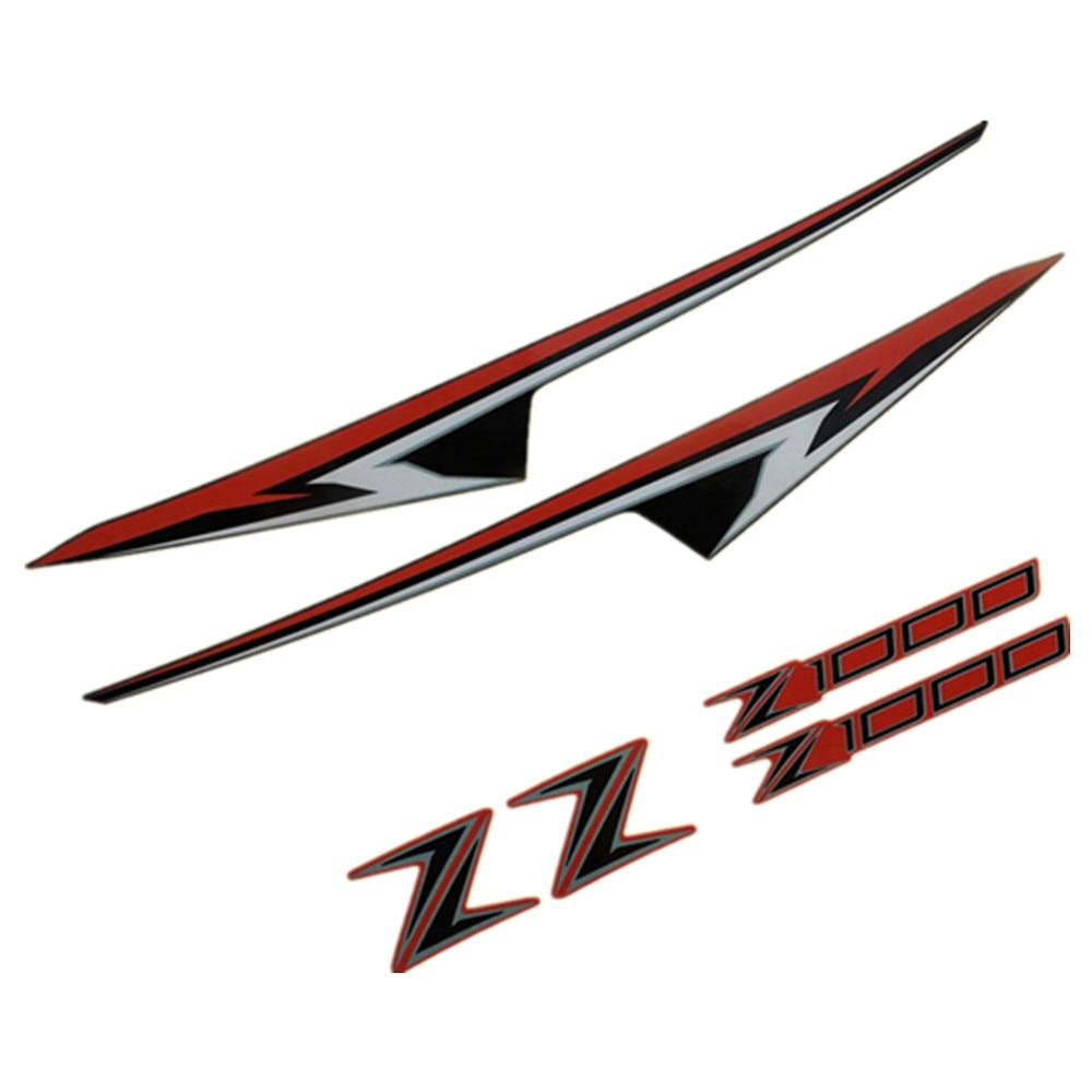 Kawasaki Z1000sx Z 1000 SX Silver chrome on black graphics decals stickers x 2