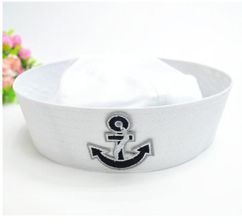 Militärhüte Symbol Der Marke 2018 Männer Und Frauen Spot Großhandel Kinder Wohnung Marinekappe Weiß Piratenkapitän Seemann Pu Marinekappe Militray Hüte