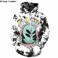 PLstar Cosmos Brand clothing 3D Hoodies Alien Far Out 3D Print Sweatshirts Unisex Long Sleeve Hooded Pullovers Plus Size S-3XL