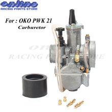 Universal Carb for OKO pwk 21 Motorcycle Carburetor Carburador 21mm With Power Jet For Racing Motor 2T 4T цена