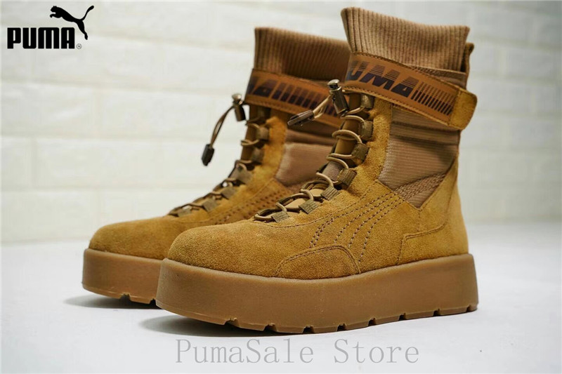 2018 Puma x Fenty By Rihanna Women Scuba Boot Retro Women Shoes Durable Sneaker Badminton Shoes Size 35-39