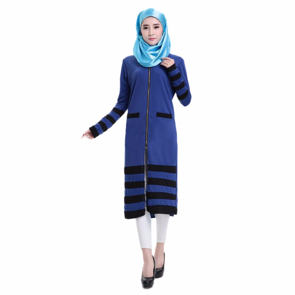 New Jilbabs Long Sleeve Abayas Caftan Arab Women Dress Turkey Dubai ...