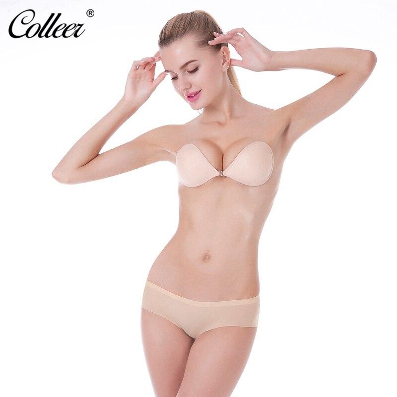 50414043bf COLLEER Super Push Up Bras Women Underwear Silicone Bralette soutien gorge  invisible Wedding Strapless Bra BH Brassiere-in Bras from Underwear    Sleepwears ...
