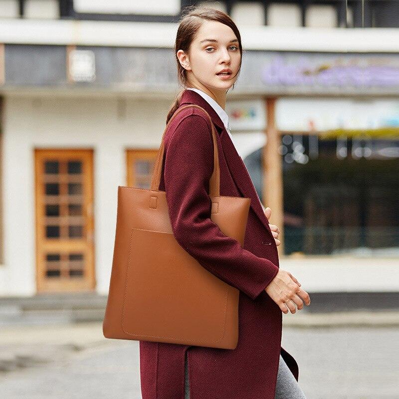 Free shipping Soft Pu Leather Tote Large Shopping Bag Women Shoulder Bag Handbag Brown White Black Burgandy