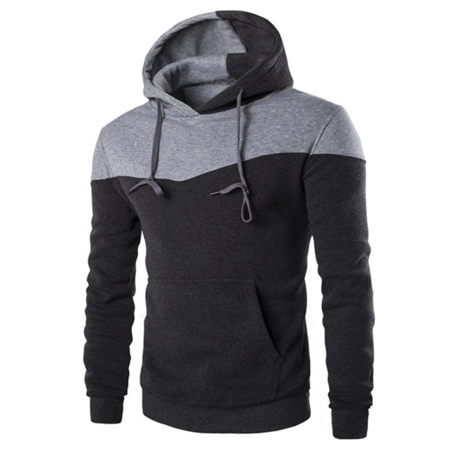 2016 Brand Fashion Mens Hoodies Long Sleeve Pullover Hoodies Mens Clothes Hip Hop Men Hooded Sweatshirt Sudaderas Plus Size
