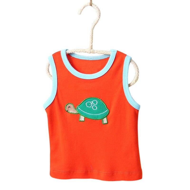 Nowy 5 sztuk / partia Niemowląt Bawełna Kamizelka Koszula Letnie - Odzież dla niemowląt - Zdjęcie 4