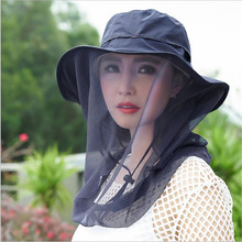 Outdoor Fishing Hat Bee keeping Insects Mosquito Net Prevention Cap Mesh Fishing Cap Outdoor Sunshade Lone Neck Head Cover(China)
