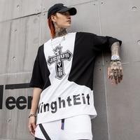 Oversized Harajuku Tshirt Men Cool Print Skateboard Streetwear Mens t Shirts Swag Hip Hop High Street Style Rap t Shirt Homme