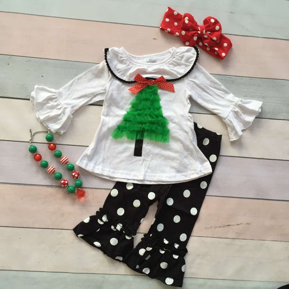 wholesale baby girls Christmas clothes girls Santa stree ...