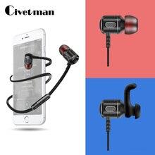 Civetman Bluetooth Earphone Wireless Headset Casque With Microphone Cordless Earphone Earpiece Earbuds