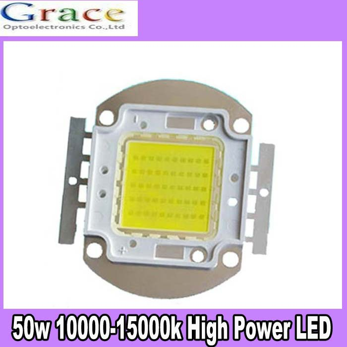1Pcs 50W Watt High Power Cool White 10000-15000k SMD LED Chip COB Lamp